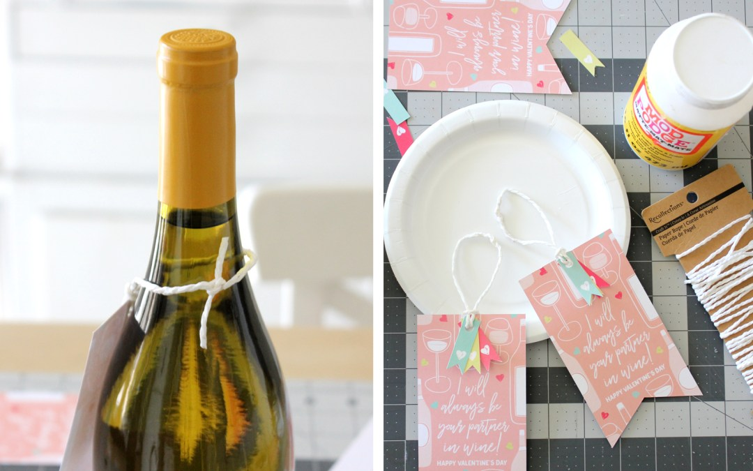 Printable Partners in Wine Valentine