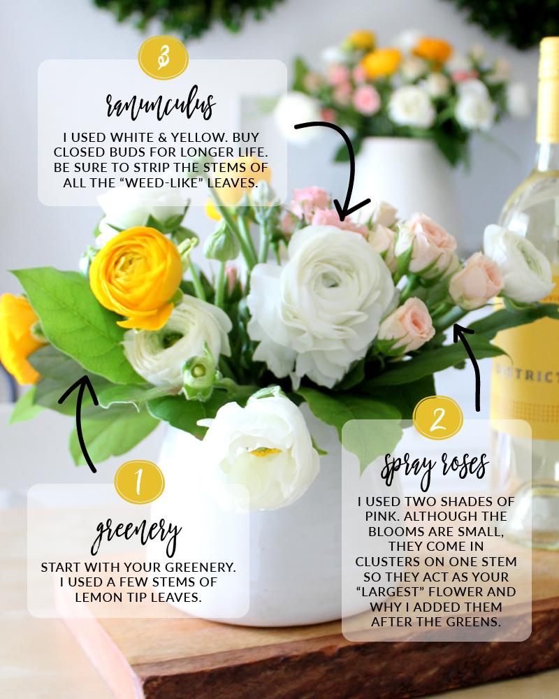 DIY Spring Floral Arrangements in 3 Sizes - Tonality Designs