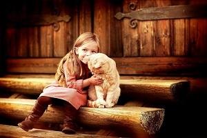 gyvūnai ir vaikai