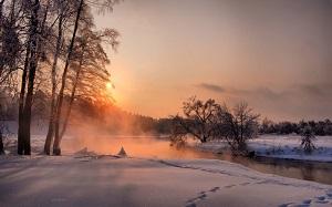 žiemos saulėlydis