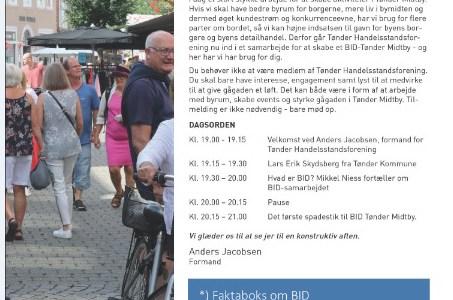 Invitation: – Endnu mere gang i Tønder Midtby