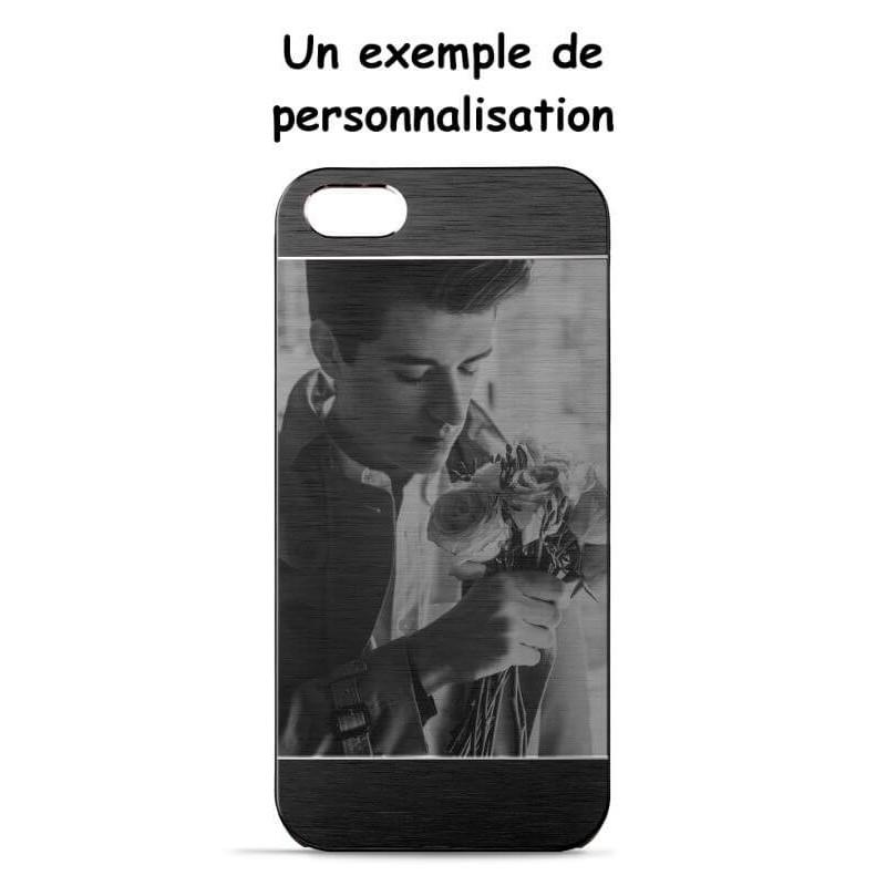 Coque aluminium Iphone 5  personnaliser avec image et texte