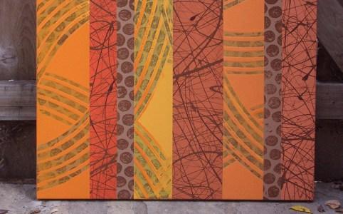 Chocolate Orange abstract art