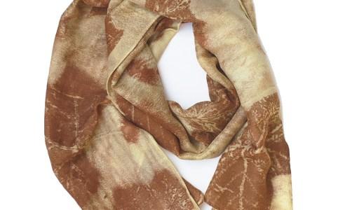 Ecoprint Silk Scarf