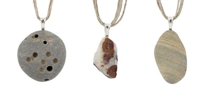 Cassandra Tondro Beach Rock Necklaces