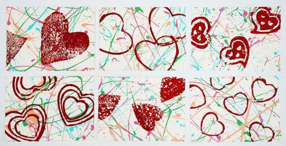 Valentine art card project