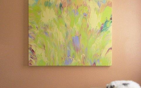 """Cassandra Tondro, """"Dawn,"""" abstract painting"""