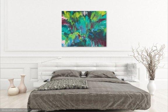 "Cassandra Tondro, ""Tropical Dreams,"" abstract painting"