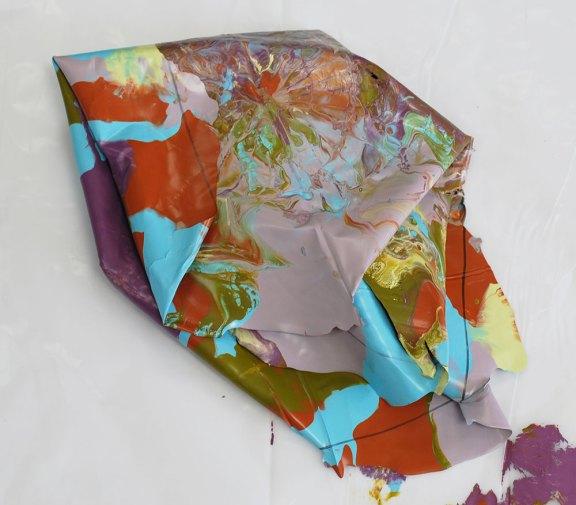 Cassandra Tondro abstract painting in progress