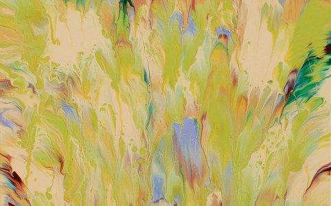"Cassandra Tondro, ""Rebirth"" abstract painting"