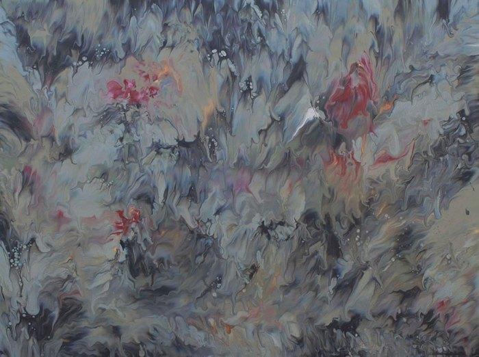 "Cassandra Tondro, ""Smoke and Mirrors,"" fire painting"