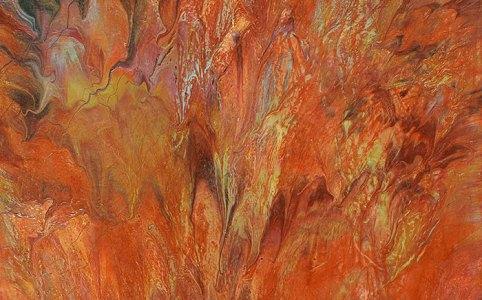 "Cassandra Tondro, ""Indian Summer,"" abstract painting"