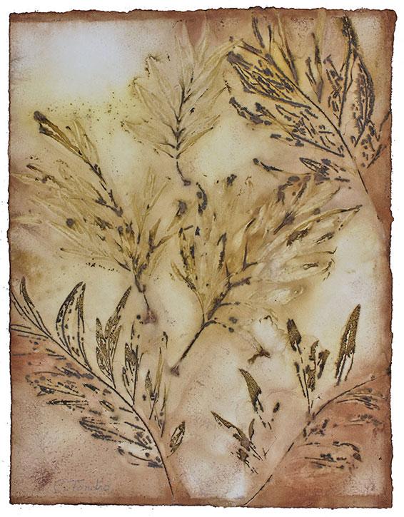 Cassandra Tondro, silk oak leaf print