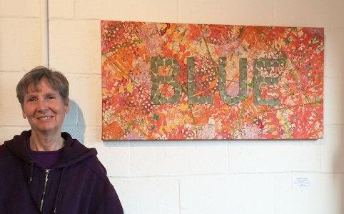 """Cassandra Tondro, """"Blue,"""" abstract art"""