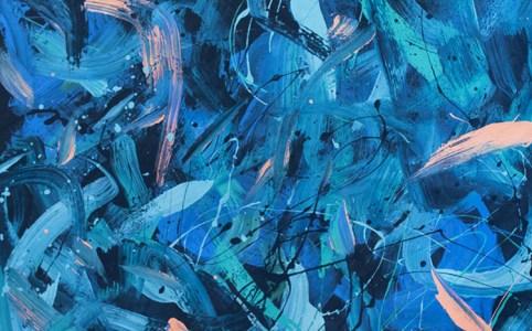 Cassandra Tondro eyes closed painting