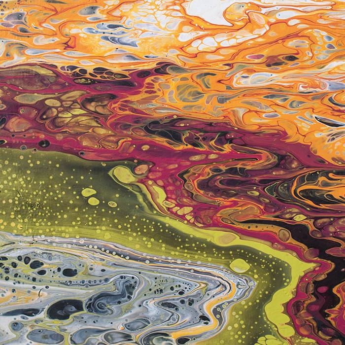 """Cassandra Tondro, """"Cosmic Ripples,"""" contemporary painting"""