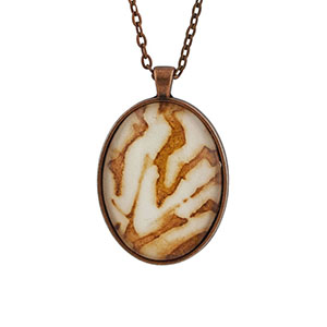 Cassandra Tondro Leaf Print Necklace