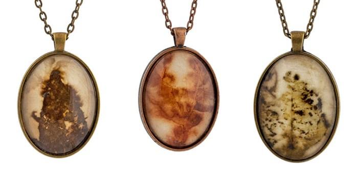 Cassandra Tondro Leaf Print Necklaces