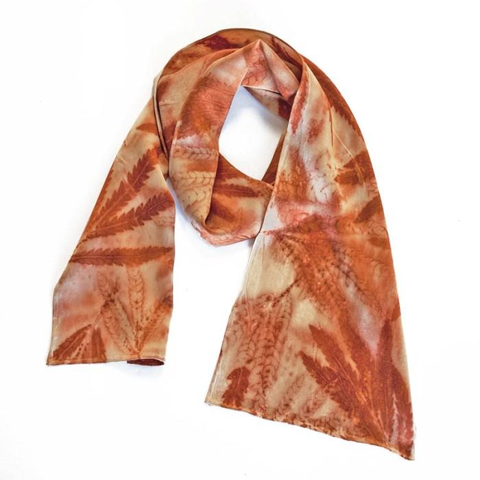 Cassandra Tondro, Fernleaf Ironwood silk scarf