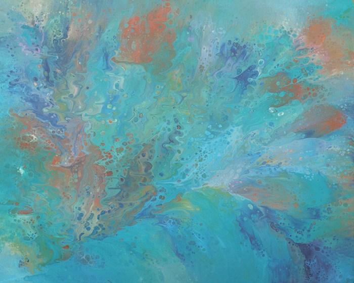 "Cassandra Tondro, ""Subaquatic View,"" abstract painting"