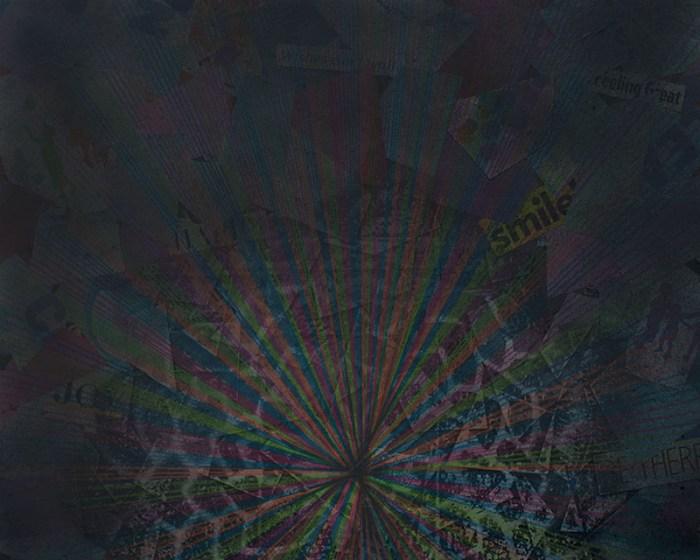 "Cassandra Tondro, ""The Truth Will Prevail,"" coronavirus collage art"