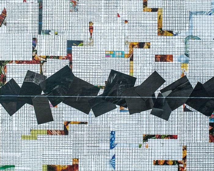 """Cassandra Tondro, """"Time Stands Still,"""" coronavirus collage art"""