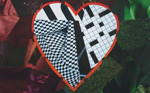 "Cassandra Tondro, ""Checkered Past,"" heart collage"