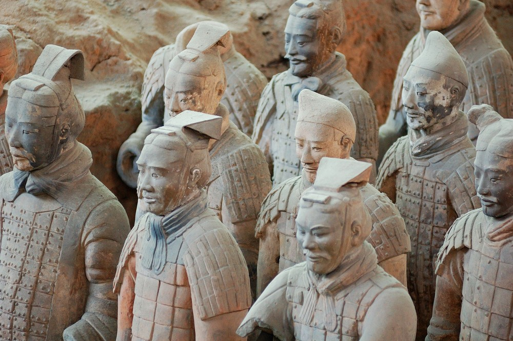 Life-size models from the Terracotta army