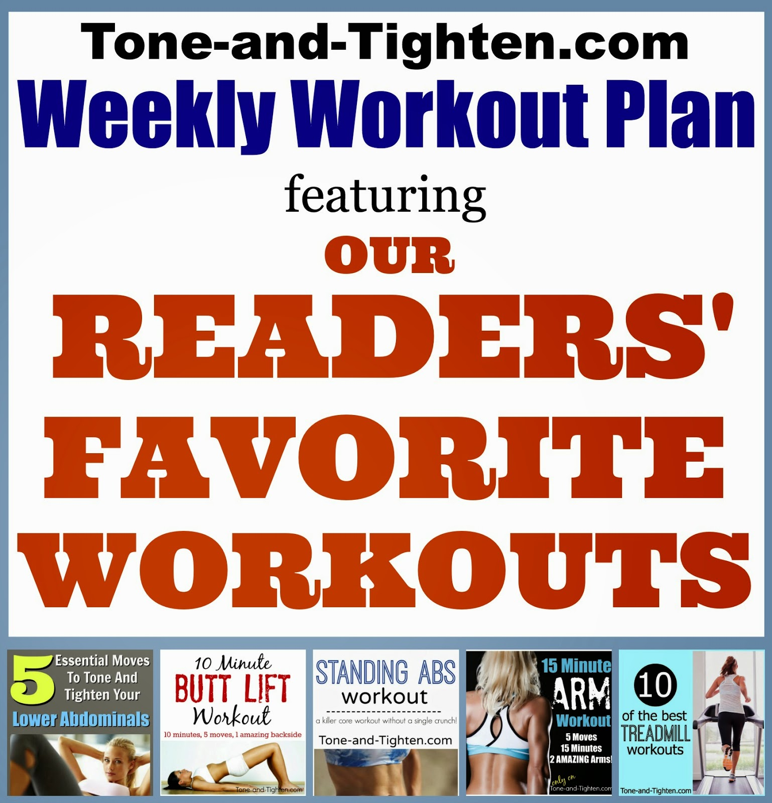 Weekly Workout Plan – 5 Of Our Readers' Favorite Routines PLUS A ...