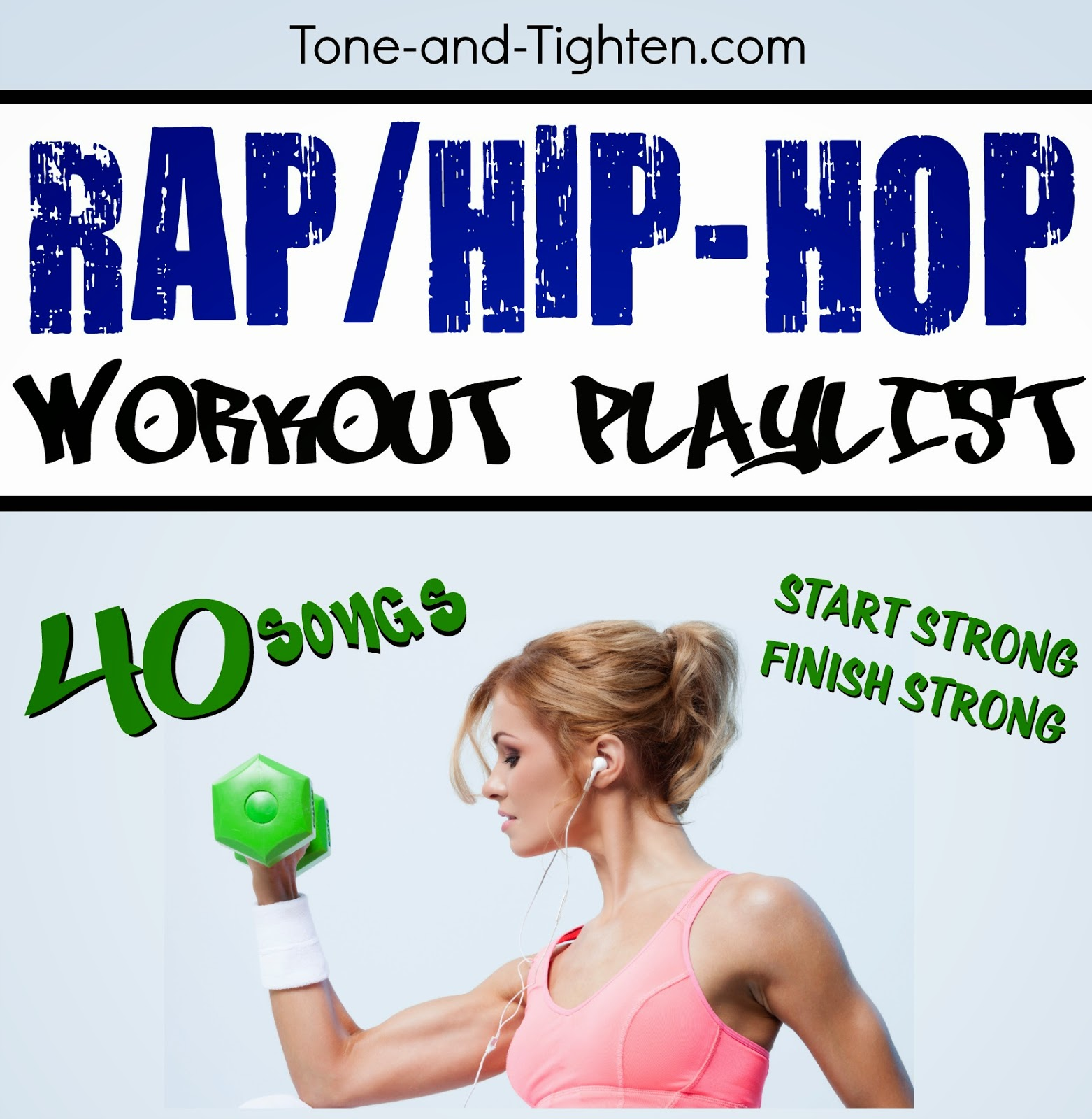 best rap hip hop workout songs tracks tunes playlist exercise gym tone and tighten