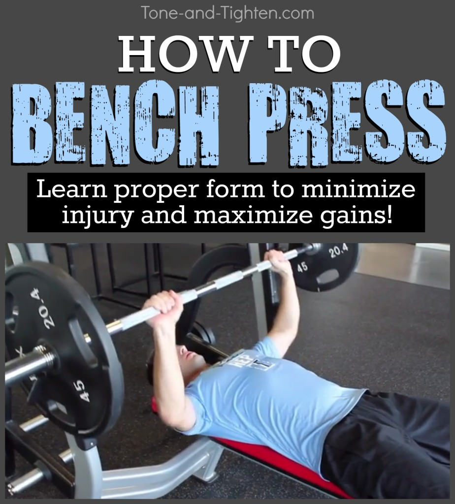 How To Bench Press Correctly | Tone and Tighten