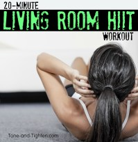 20 Minute Living Room HIIT Workout   Tone and Tighten