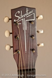 Sears Silvertone 605 Guitar Headstock