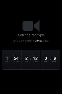 「RoadMovies」録画タイプを選択