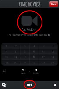 ビデオカメラのマークをタップ