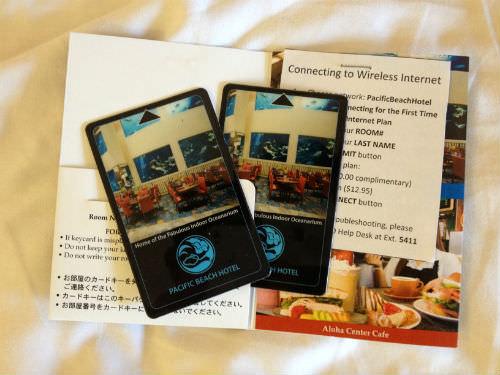 パシフィックビーチホテルのカードキー