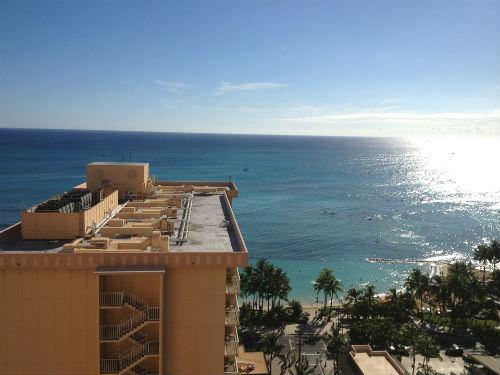 パシフィックビーチホテルから望むワイキキビーチ