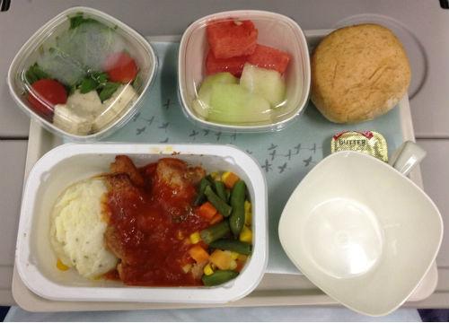 大韓航空 機内食 昼食 チキン