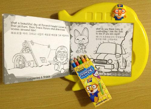 大韓航空 成田便 塗り絵帳と色鉛筆
