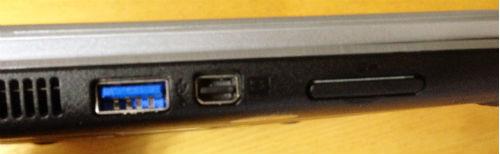 acer Aspire V5-122P-N44D/Sの左側面