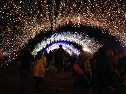 光のトンネル 宮ケ瀬
