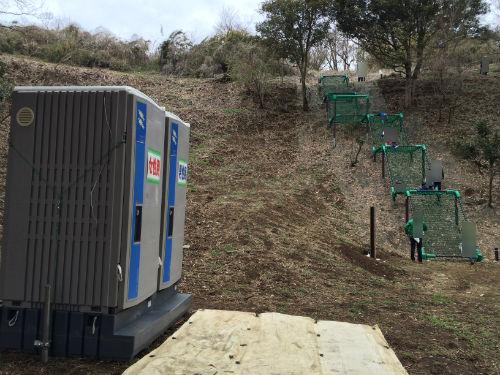 ムササビの道の仮設トイレ