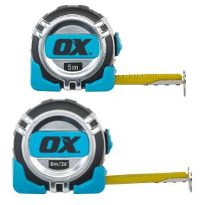 OX Pro Metric/Imperial 5m / 8m Tape Measure
