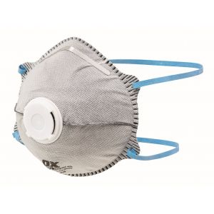OX FFP2VC Odour Moulded Cup Respirator – 2pk Blister - OX-S486302