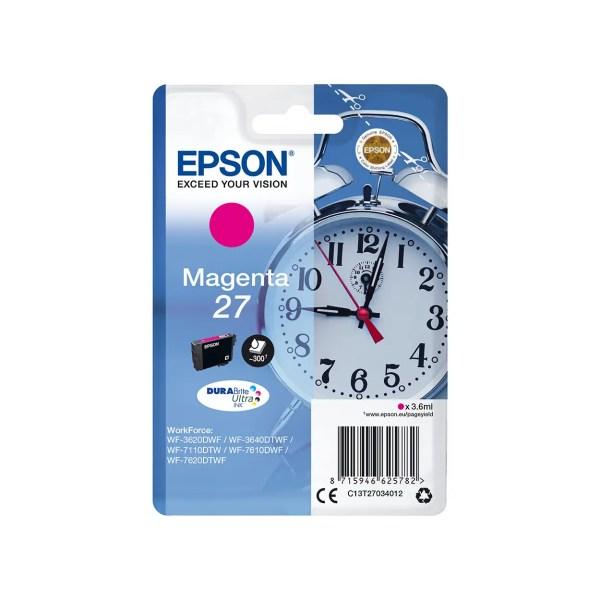 Epson 27 Kertridž Original Magenta / T2703