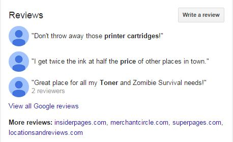 See Our Awesome Reviews On Google