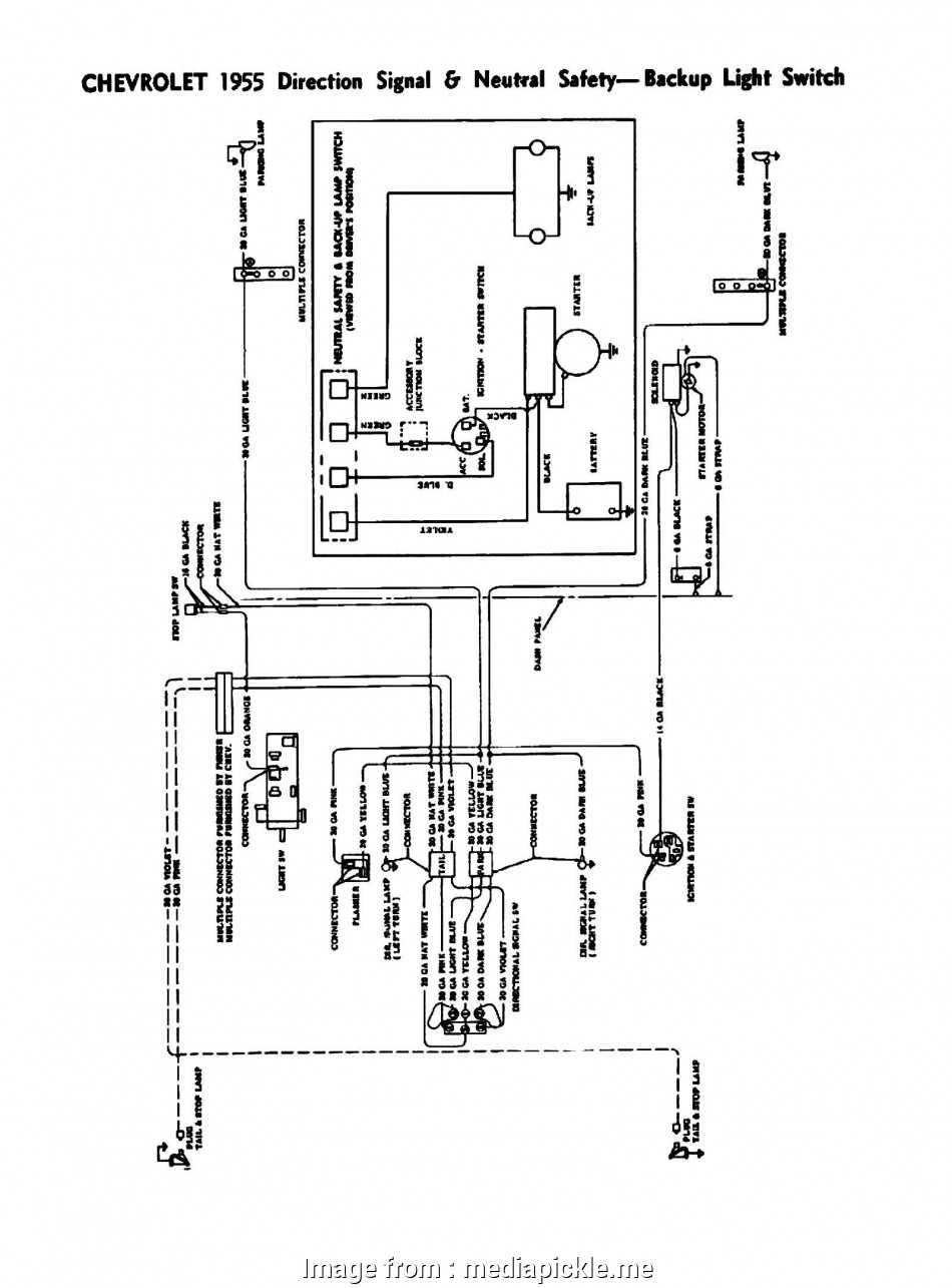 1957 Chevy Bel Air Ignition Switch Wiring Diagram / 30