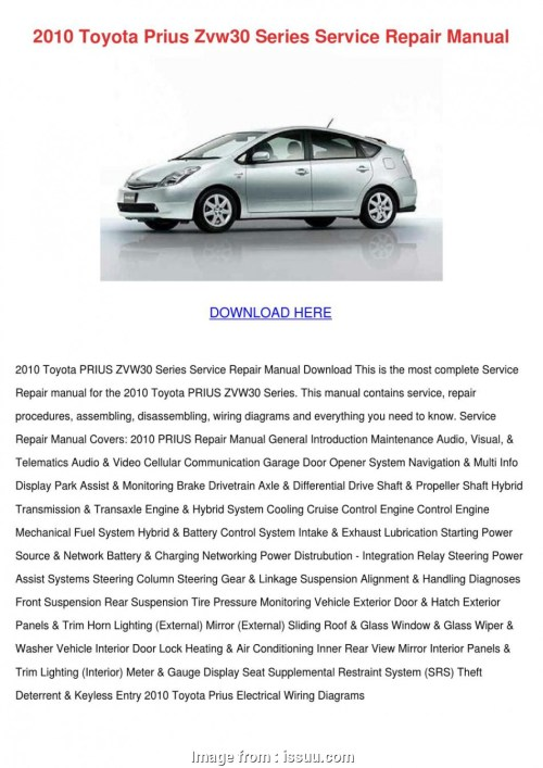 small resolution of 2010 prius electrical wiring diagram 2010 toyota prius zvw30 series service repair by karenguthrie issuu