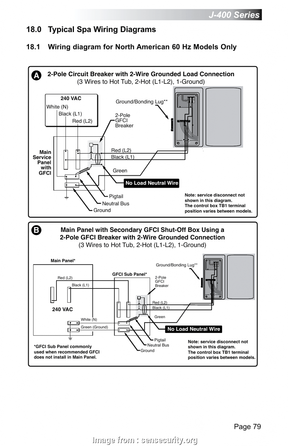 hight resolution of 220v gfci wiring diagram 0 typical wiring diagrams j series page 79 jacuzzi fair