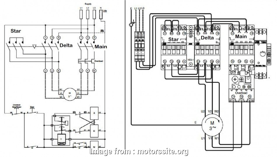 3 Phase Motor Starter Wiring Diagram Star Delta Most